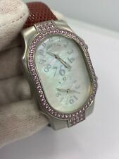 Philip Stein Signature Mother of Pearl Pink Sapphire Teslar Watch