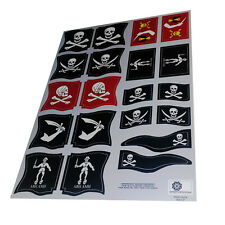 Banderas piratas - Pirate flags - Playmobil's Custom Stickers