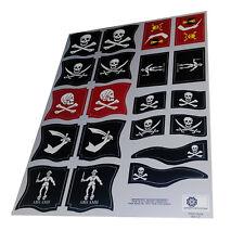 Banderas piratas/Pirate flags/Piraten flaggen-Playmobil Stickers/Aufkleber