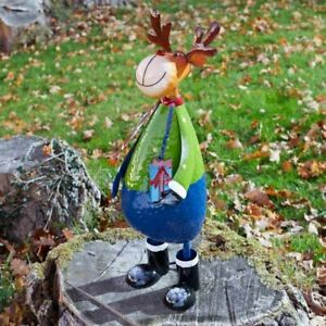 Polka Rudolph Metal Reindeer Christmas Decoration Indoor & Outdoor Use