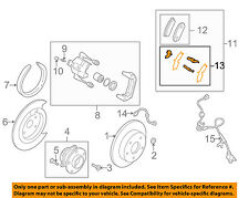 MAZDA OEM 2012 CX-7 Brake-Rear-Insulator Kit L2Y72649Z