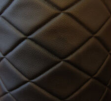 "Vinyl Leather Faux vinyl Black 6""x4"" Diamond headliner headboard fabric 3 yards"