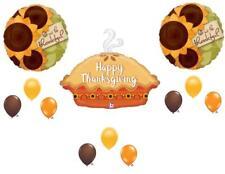 12 pc. THANKSGIVING PUMPKIN PIE DINNER BANQUET Balloons Decoration Supplies