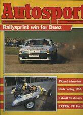 AUTOSPORT NOV 1st 1984 * Fiat Strada Abarth 130TC TEST *