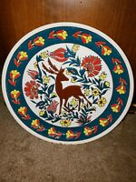 Vintage Hand Painted Plate Made in Greece - Pandora Ceramics