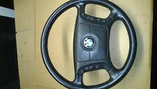 BMW E39 E38  5 7 SERIES  BLACK LEATHER STEERING WHEEL WITH AIRBAG PN 1095633
