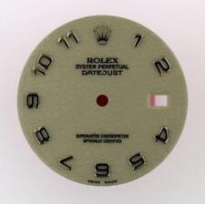 Original Men's Rolex Datejust QS 16200 16220 16234 Ivory Arabic Dial S/S #E53