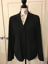 Nine West Womens 3 Button Black Blazer Jacket Size 12. Professional. Pre-Owned.