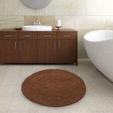 Solid Pattern Round Bath Mats