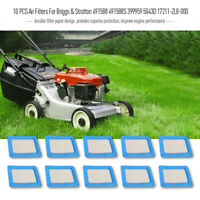10 PCS Air Filters For Briggs & Stratton 491588 491588S 399959 5043D Lawn Mower