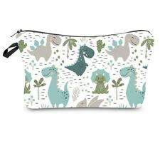 cute dinosaurs cosmetic bag makeup organiser high quality printed make up case