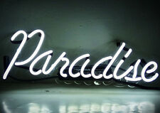 Paradise Beer Hotel Pub Bar Display POSTER Club Art Work Neon LIGHT SIGNS White