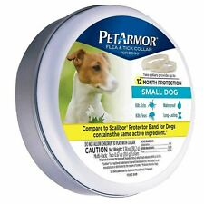 2 Flea & Tick Collar S Small Dogs neck up to 14 in protect 12 Month Waterproof