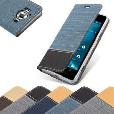 Case for Nokia Lumia 950 Phone Cover Denim Style Protective Wallet Book