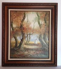 1950s French Listed Artist Marie Charlot IMPASTO OIL ON CANVAS Victorian Ladies