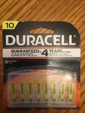 8 Duracell Size 10 Hearing Aid Batteries (with EasyTabs) - Expiration 2020