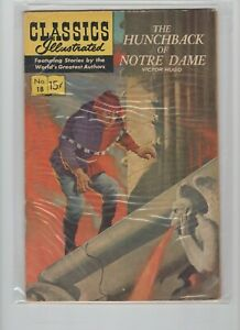 Classics Illustrated #18.Hunchback of Notre Dame, HRN169, 18th. Ed., Very Fine!