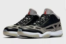 Nike Air Jordan Retro XI 11 Low IE Black,Cement,Grey,Red Sz 7---919712-006 NEW!