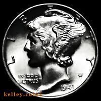 1941 Mercury Silver Dime BU