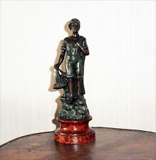 Antique French Statue of Fisherman in regule (sort of bronze) 19th century