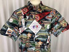 Reyn Spooner Men's Houston Astros MLB Classic Fit Hawaiian Shirt Scenic 2018 L
