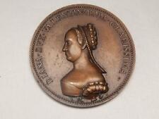 1881 BRONZE MEDAL DIANE POTIERS FRENCH DUCHESS OF VALENTINE GODDESS HUNTING LOVE