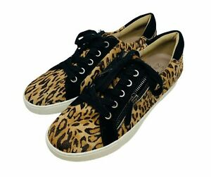 New Naturalizer Womans Macayla Sneakers Cheetah Print Calf Hair Shoe Sz 8.5M NIB