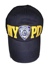 e43ee715943 NYPD Baseball Hat New York Police Department Big Gold Distressed Navy Blue  NWT
