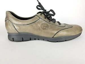 Mephisto Shiny Metallic Fashion Sneaker Oxford Lace Up Casual Women's Shoe 10