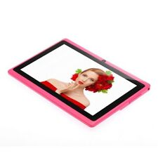 """7"""" Tablet PC Android4.4 Q88 A33 8GB Quad-core WIFI Dual Camera Bluetooth Pink #A"""