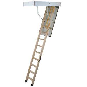 Enviro Fold 2.9m 290cm Wooden Frame Timber Folding Loft Ladder Tri Fold System