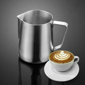 Au Milk Coffee Jug Latte Espresso Frothing Scale Pitcher Stainless Steel
