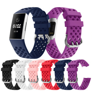 2020 Fitbit Charge 3 Replacement MESH Silicone Watch Strap Band SIZE S