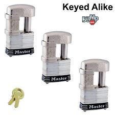 Master Lock - (3) Keyed Alike Trailer & Multi Purpose Padlocks, 37NKA-3 BumpStop
