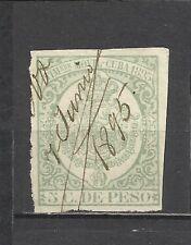 432-GRAN SELLO FISCAL  COLONIA ESPAÑA AÑO 1895 5 CENTAVOS.SPAIN REVENUE.