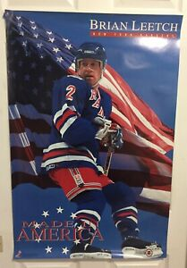 Brian Leetch New York Rangers Costacos  Poster