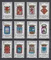 SPAIN (1964) - MNH - Sc# 1069/80 - EDIFIL 1551/62 PROVINCIAL ARMS SPAIN