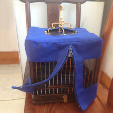 Square Bird Cage Cover Zippered Home Pet Parrot Birdcage Accessory Anti-Mosquito