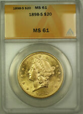 1898-S Liberty Double Eagle Gold $20 Coin ANACS MS-61 (Better Coin)