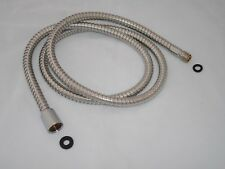 """KITCHEN MIXER TAP PULL OUT FLEXI HOSE, STAINLESS, 1.5M, 15mm : 1/2""""BSP ENDS"""