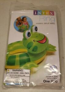 """Intex FROG Animal Split Inflatable Pool Ring. 22.5"""" x 22"""" NEW. 59220EP. Ages 3-6"""