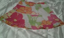Lilly Pulitzer Gala Girls Sz 10 Flowered Skirt As Is Flawed