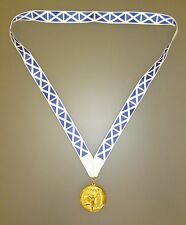 SCOTLAND OLYMPIC MEDAL -Gold Olympic Style Medal with Scottish Lanyard (MI3)