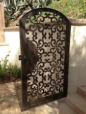 Metal Art Gate Pedestrian Walk Thru Italian Custom Iron Steel Garden Modern