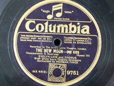 """78 rpm 12"""" EVELYN LAYE one kiss / lover come back to me THE NEW MOON"""