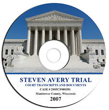 NEW-Complete Steven Avery Court Transcripts-Making a Murderer Trial-PDF eBook CD