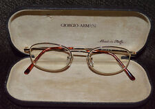 Vintage Eyeglasses Gold (1040)(48-19-140)W/Armani Case *Free Shipping*