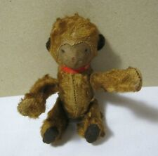 Early Vintage Key Wind Up Toy Mohair Monkey  T*