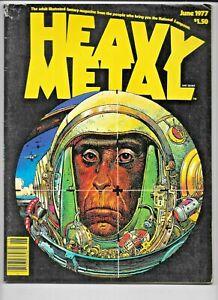 Heavy Metal #3 June 1977 Newsstand w/card Moebius Corben Druillet Lo Grade VG/FN