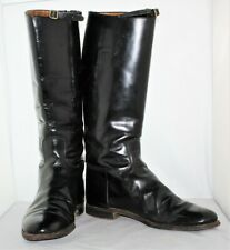 Vintage Men's Equestrian Military Wwi Wwii Leather Riding Boots Size 12 D